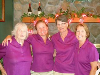 From left:  Betty Koski, Julie Graff, Mary Kloss and Gill Brown won the 2013 Alta Sierra Women's Club Invitational tournament.