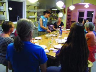 Liam Blackman teaches a BriarPatch Co-op cooking class. His next cooking class September 19 will involve making Essene, an unleavened sprouted wheat bread.
