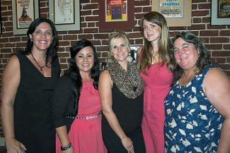 """Winners of the Business & Professional Women of Nevada County's Dolores """"Dee"""" Eldridge Scholarship award celebrate at the August gala. They are, from left, Kimberly D'Urso (2013), Alyssa Burke (2013), Laura Schumacher (2011), Amanda Holsopple (2013) and Elizabeth Zapata (2007)."""