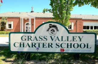 Grass Valley Charter School, located at 225 South Auburn St. in Grass Valley, is closed pending the repair of a leaking pipe.