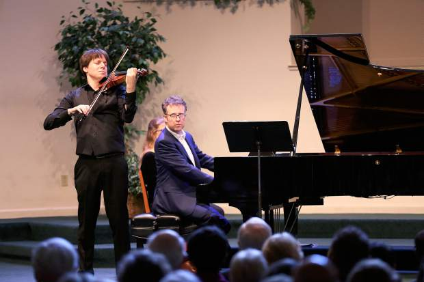 Joshua Bell accompanied by pianist Sam Haywood perform at the Seventh-day Adventist Church in Grass Valley presented by InConcert Sierra Sunday afternoon.