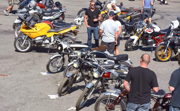 New and old American, Japanese, British and European bikes were on display at the inagural Bikes & Beer Show at ol' Republic Brewery Saturday.
