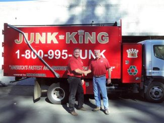 Steve Trotter, right, will expand the Junk King business to include three new locations in Chico, Davis and Sacramento. As part of the expansion, Trotter and his wife, Colleen, have brought on Mike Harvey (left) as a partner.
