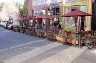 TheCommercial Street Boardwalk in Nevada City.