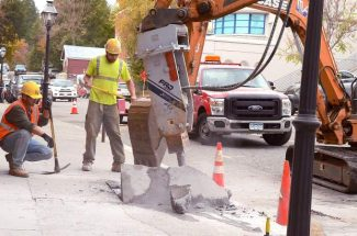 Crews from MP Nexlevel, LLC  install  fiber optic cable underground in Nevada City recently. An option to this for rural Nevada County is fixed wireless, which was discussed at a meeting Wednesday night.