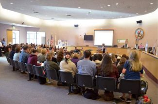 More than 100 people from local agencies and organizations attended Friday's Child Abuse Awareness Training at the Nevada County Board of Supervisors' chambers.