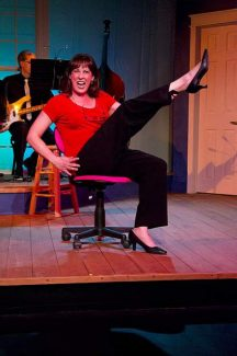 Kim Wellman sings Miss Byrd, a secretary with a secret life, in the Sierra Stages production of Closer than Ever playing through Nov. 24 at the Off Center Stage in Grass Valley.