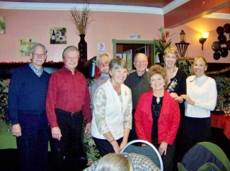 The GraNeva A's installed new officers at their annual Christmas dinner. New officers include, from left, Steve Turnsk, president; Bob Ambrose, vice-president; Jan Elliott, secretary; Sharon Pierce, editor; Kay Harms and Vicki Straw, membership. Tour directors are Buzz Elliott and Vern Harms. The GraNeva A's is a social club of Model A Ford aficionados and other vintage automobiles. Their next meeting will be at 7 p.m. on Jan. 23 at Penny's Diner in Grass Valley.