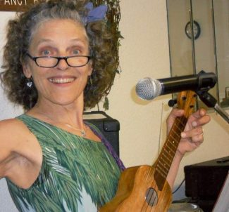 Carol Meals and her upbeat music added extra sunshine to Gold Country Community Services' Friendship Wednesday lunch.