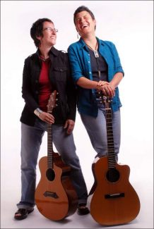 Emma's Revolution, from left, Sandy O and Pat Humphries. They will perform Thursday in Grass Valley.