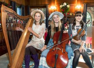 The String Sisters, who filled Bourn Cottage with musical holiday cheer last year, will perform again Friday and Saturday at this year's Holidays at Empire Mine.