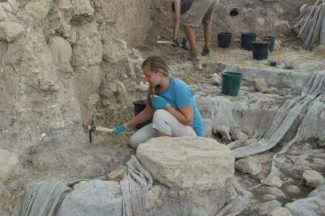 Photo submitted to The Union by Brandi Chambers. Nevada Union student Brandi Chambers excavates a site at Tell Es-Safi, Gath, Israel in the summer of 2012.