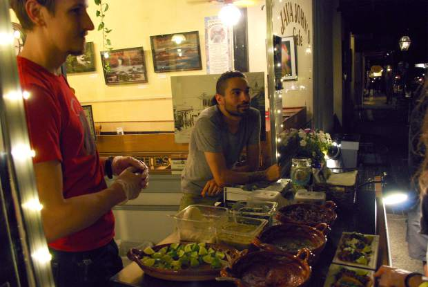 Business is booming for new local food entrepreneur, Chris Goodman and his street tacos, Fatbelly Taqueria set up on Broad Street every Thursday, Friday and Saturday night.