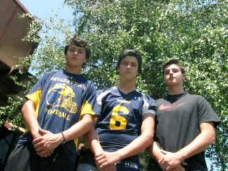 From left: Drew Daniels, Justus Spillner and Jordan O'Hara are all attending elite football camps this summer.