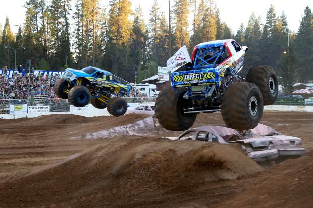 Monster Trucks, Stock and Modified Tuff Trucks at the Nevada County Fair on Friday.