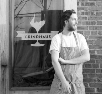 Nevada County native Aaron Taber is winning the attention of food critics for his kitchen prowess in the smallest of spaces at the newly opened Grindhaus in Red Hook, Brooklyn.