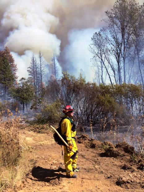 More than 200 firefighting personnel battled a 40-acre fire off South Auburn Street in Grass Valley near Empire Mine Sept. 17.