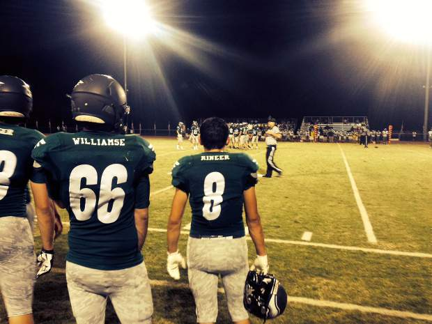On the sidelines at the Colfax versus Dixon game Friday night.