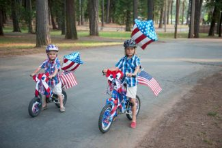 This photo, courtesy of Music in the Mountains, shows two unidentified boys enjoying the organization's Happy Birthday USA concert July 3, 2013. It is one of many great Fourth of July events to choose from in Nevada County this week.