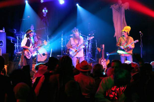 Achilles Wheel performs for Fright Night at the Miner's Foundry in Nevada City Saturday night.