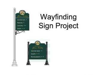 Mock-ups of the new signs coming to downtown Grass Valley.