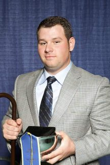 Graham Blagg won first place in the individual category at the National Collegiate Livestock competition at the North American International Livestock Exposition in Louisville, Kentucky.