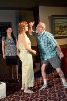 """Rodger Hoopman, Corinne Gelfan and Heather Bond star in """"Squabbles"""" by Quest Theaterworks. The limited run production ends July 28."""