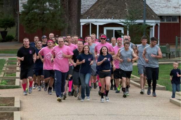 It's become a tradition in recent years for Cal Fire firefighters from Station 40 at Smartsville, Station 40 on Tyler Foote Crossing Road, and TGU Tehama-Glenn unit to run a 40-mile relay  to raise money for the Sierra Nevada Memorial Hospital Women's Imaging Center.