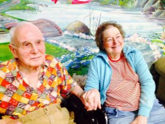 Roberta and Joe Day share a laugh at the Golden Empire Nursing and Rehabilitation Center in Grass Valley.