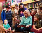 """Lisa Boulton reads her book, """"Toby Bear and the Healing Light"""" to children at Nevada City School of the Arts."""
