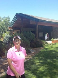Ruth Squibb made a hole-in-one on hole No. 3 at the Alta Sierra Country Club golf course during the Spring Handicap Tournament.