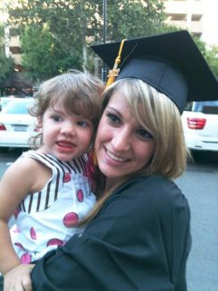 Tracie Trabert and her daughter Tienna.