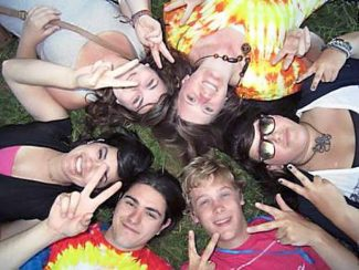 Local youth at NEO's annual Hippie Dancing event.