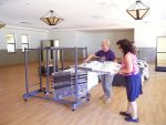Volunteers of Gold Country Community Services prepare for the re-opening of their new permanent facility Friday at the Condon Park LOVE building, located at 660 Minnie St. Leaders of GCCS and Grass Valley city staff have been working since 2013 to refurbish the aging facility.