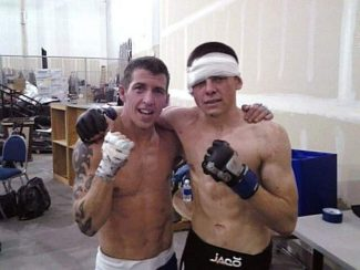 Nick Sperling, left, stands with Santino Valdez after a Nov. 24, 2012 bout. The two will meet again Sunday at Thunder Valley, but this time with a belt on the line. Sperling won the first fight.