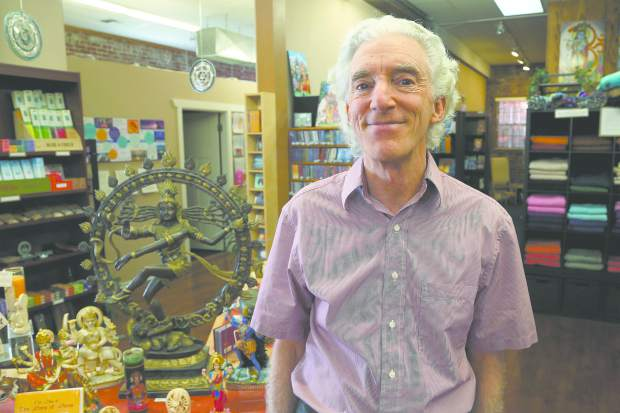 John Ernst owns Inner Path, a store with a yoga studio, meditation room and library in Nevada City.