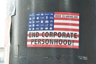 This poster reflects the goal of Move to Amend.