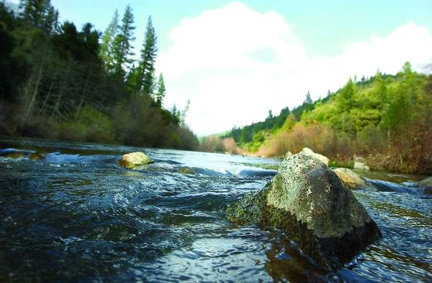 The Bear River on a sunny day near Dog Bar Road, in a 2005 archive photo.