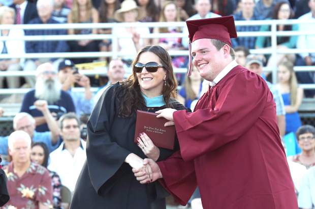 Bear River graduates receive their diploma Friday night.