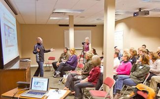 Photo courtesy of Andy Wright. Machen MacDonald, an organizer of Nevada County Online, hosts a presentation during one of the meetings. The group meets 11 a.m. to 12:30 p.m. the fourth Tuesday of the month at Grass Valley Courtyard Suites at 210 North Auburn St.