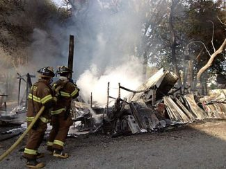 A barn caught fire at around 6:30 p.m. Sunday on Lime Kiln Road near Old Pond Road.