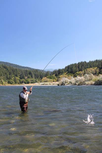 Fly fishing on the lower rogue river for Rogue river oregon fishing