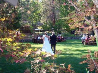 A wedding held outsode at The Roth Estate in Nevada City.