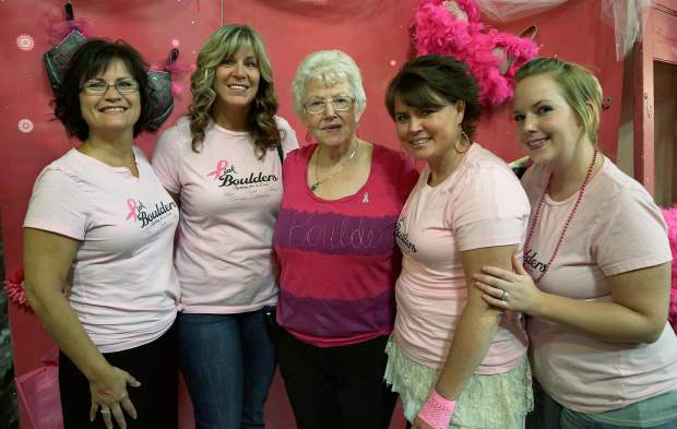 Pink Boulders at Paint the Town Pink at the Nevada County Fairgrounds Thursday evening.