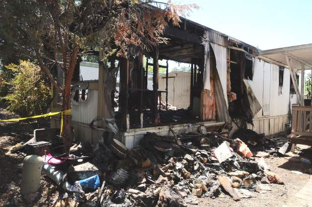 Fire Engulfs Trailer At Penn Valley Mobile Home Park
