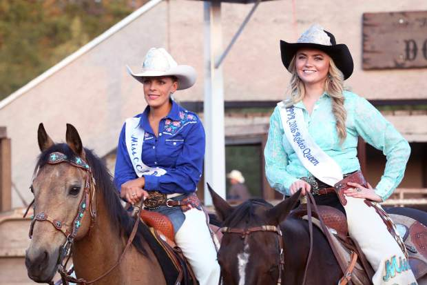 Miss Penn Valley Rodeo Queen at the rodeo Friday evening.