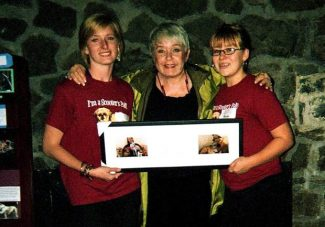 Scooter's Pals Dog Rescue in Nevada City presented their first Volunteer of the Year Award to Robin Palmer, posthumously.