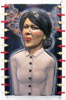 """""""Condoleezza Dreaming,"""" is part of an exhibit of work by Mirriam Morris on display at the Center for the Arts in Grass Valley."""
