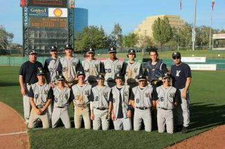 The Nevada Union junior varsity baseball team poses for a team pic at Raley Field Saturday. NU beat Oakmont 8-3.