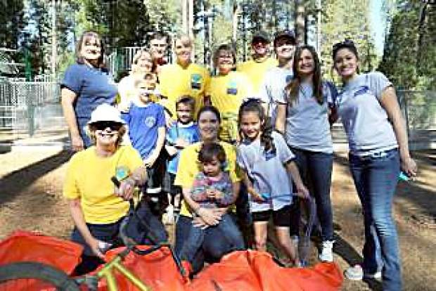 Volunteers compile their trash at Condon Park during the 2015 Nevada County's Random Acts of Kindness (RAKE) project organized by Anew Day. The third annual RAKE, which will take place on Oct. 1, seeks to spread kindness by encouraging volunteers to perform a simple act of kindness throughout the community.
